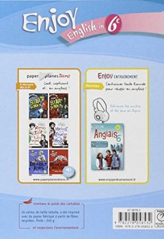 Livres Couvertures de Enjoy English in 6e Palier 1-1re année Niveau A1-A1+ du CECR : Workbook
