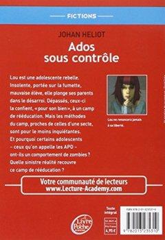 Livres Couvertures de Ados sous contrôle