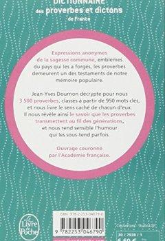 Livres Couvertures de Le dictionnaire des proverbes et dictons de France