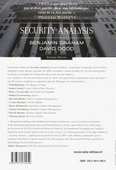 Livres Couvertures de Security Analysis : Analyse et évaluation financières des valeurs mobilières