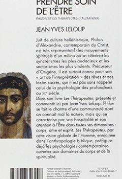 Livres Couvertures de Prendre soin de l'être: Philon et les thérapeutes d'Alexandrie