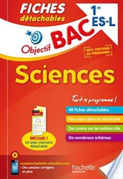 Livres Couvertures de Objectif Bac Fiches Détachables Sciences 1ère Es/L