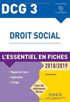 Livres Couvertures de DCG 3 - Droit social - 2018/2019 - L'essentiel en fiches