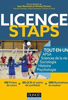 Livres Couvertures de Licence STAPS Tout en Un - 120 fiches de cours, 60 QCM et sujets de synthèse