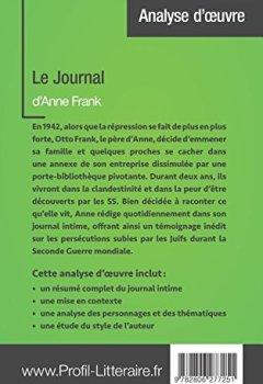 Livres Couvertures de Le Journal d'Anne Frank (Analyse approfondie): Approfondissez votre lecture des romans classiques et modernes avec Profil-Litteraire.fr