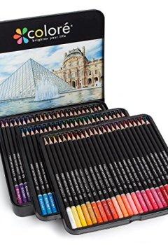 Livres Couvertures de Colore Crayons de couleur - Ensemble de 72 crayons de couleur prime Pré-taillés pour dessiner des pages à colorier - Un super équipement d'art scolaire pour enfants et adultes - Livres à colorier- 72 couleurs