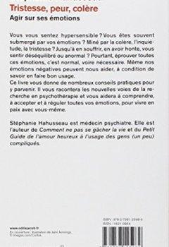 Livres Couvertures de Tristesse, peur, colère: Agir sur ses émotions