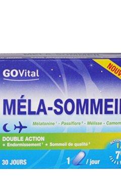 Livres Couvertures de Govital - MELA-SOMMEIL Double Action: Endormissement et Sommeil de qualité - 2 Boites de 30 Gélules