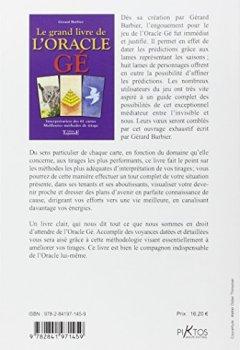 Livres Couvertures de Le grand livre de l'oracle Ge (cartes non fournies)