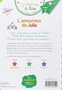 Livres Couvertures de L'amoureux de Julie - J'apprends à lire avec Sami et Julie, Niveau 2 ,milieu de CP