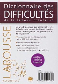Livres Couvertures de Dictionnaire des difficultés de la langue française