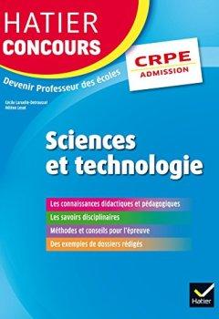 Livres Couvertures de Hatier Concours CRPE 2017 - Epreuve orale d'admission - Sciences et technologie