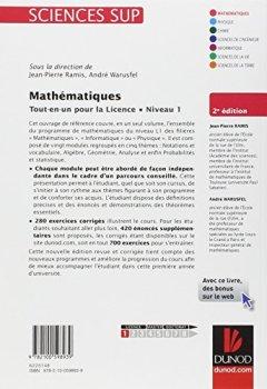 Livres Couvertures de Mathématiques Tout-en-un pour la Licence - Niveau L1 - 2e édition: Cours complet, exemples et exercices corrigés