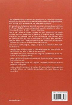 Livres Couvertures de Soins Infirmiers : Fiches Techniques, 7e ed.
