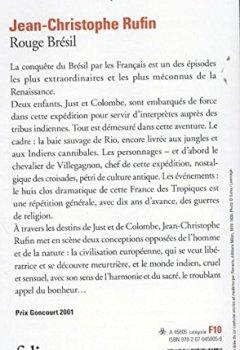 Livres Couvertures de Rouge Brésil - Prix Goncourt 2001