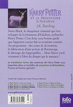 Buchdeckel von Harry Potter 3 et le prisonnier d' Azkaban