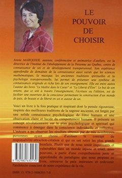 Livres Couvertures de Le Pouvoir de choisir - Un paradigme pour l'émergence d'une nouvelle conscience