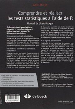 Livres Couvertures de Comprendre et réaliser les tests statistiques à l'aide de R : Manuel de biostatistiques