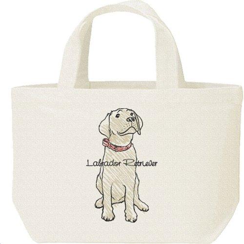 犬>ラブラドール レトリバー(クレヨンタッチ)/キャンバストート・ランチバッグ