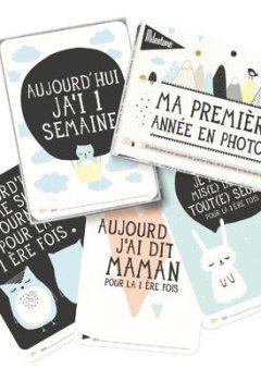 Livres Couvertures de Milestone Cards - Journal et livre de naissance - Cartes Ma Premiere annee en photos