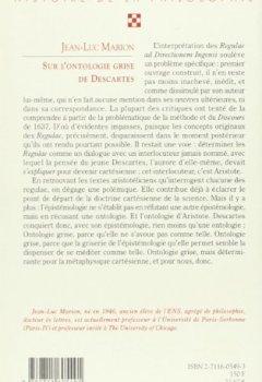 Livres Couvertures de Sur l'ontologie grise de Descartes: Science cartésienne et savoir aristotélicien dans les Regulae