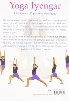 Livres Couvertures de Yoga Iyengar : Initiation aux 23 postures classiques