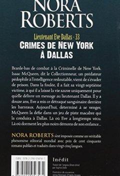 Livres Couvertures de Lieutenant Eve Dallas - 33 - Crimes de New York a Dallas