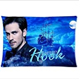 """Custom Once Upon A Time Captain Hook Rectangle Pillow Cases 20""""x30"""" (One Side Printing)"""