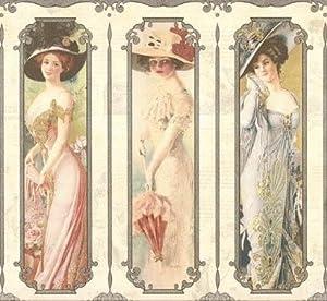 Wallpaper Old Fashioned Victorian Ladies on Cream - Wallpaper Borders - Amazon.com