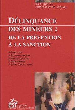 Livres Couvertures de Délinquance des mineurs : De la prévention à la sanction