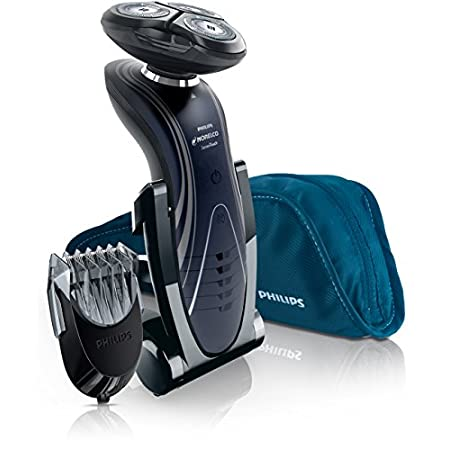 Philips Norelco Shaver 6800 combines Gyroflex 2D and SkinGuide for a close, comfortable wet or dry shave. It has a smooth flat surface with rounded edges to provide an extra-close shave with less irritation. The Lithium-ion rechargeable battery deliv...