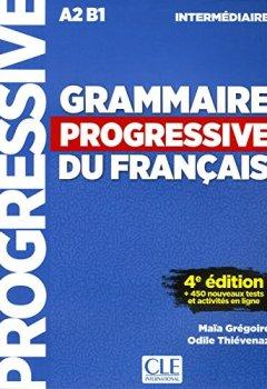 Livres Couvertures de Grammaire progressive du français - Niveau intermédiaire - 4ème édition - Livre + CD + Livre-web