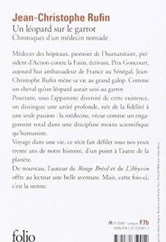 Livres Couvertures de Un léopard sur le garrot: Chroniques d'un médecin nomade