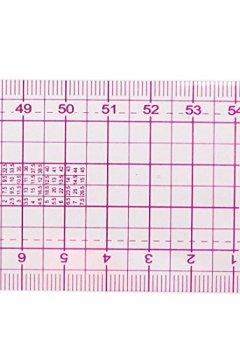 Livres Couvertures de Regle - SODIAL(R)Schneider 54 cm regle droite de couture cotes doubles partagent metrique Rose Transparent