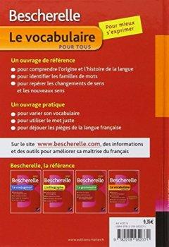 Livres Couvertures de Bescherelle Le vocabulaire pour tous: Ouvrage de référence sur le lexique français