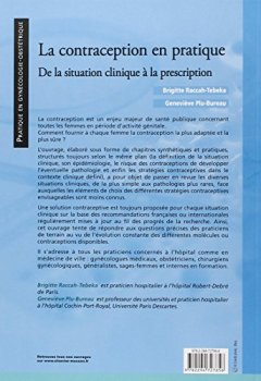 Livres Couvertures de La contraception en pratique: De la situation clinique à la prescription