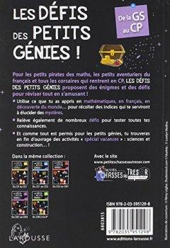 Livres Couvertures de Les défis des petits génies ! : De la Grande Section au CP, 5-6 ans- Cahier de vacances