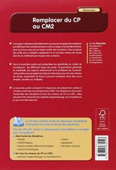 Livres Couvertures de Remplacer du CP au CM2 : Elémentaire (CD-ROM)