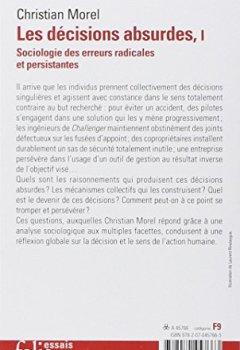 Livres Couvertures de Les décisions absurdes: Sociologie des erreurs radicales et persistantes