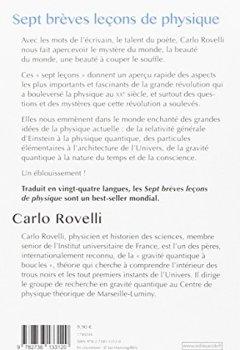 Livres Couvertures de Sept brèves leçons de physique