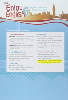 Livres Couvertures de New Enjoy English 6e - Guide pédagogique + fiches