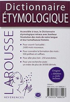Livres Couvertures de Dictionnaire étymologique