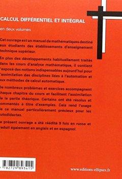 Livres Couvertures de Calcul différentiel et intégral : tome 2