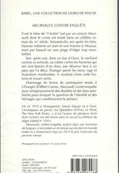 Livres Couvertures de Meursault, contre-enquête
