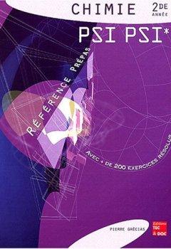Livres Couvertures de Chimie 2de année PSI PSI*