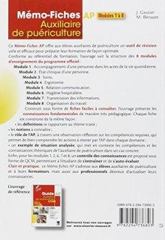 Livres Couvertures de Mémo-fiches AP - Modules 1 à 8: Auxiliaire de puériculture