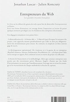 Livres Couvertures de ENTREPRENEURS DU WEB Les grandes réussites françaises
