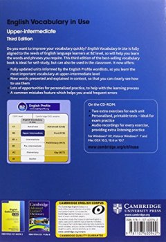 Livres Couvertures de English Vocabulary in Use Upper-intermediate with Answers and CD-ROM