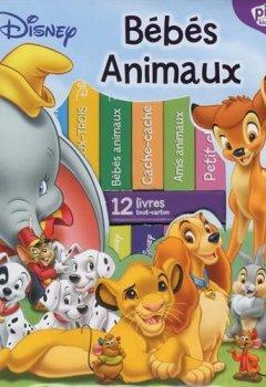 Livres Couvertures de Ma première bibliothèque bébés animaux de Disney : Coffret de 12 livres tout-carton