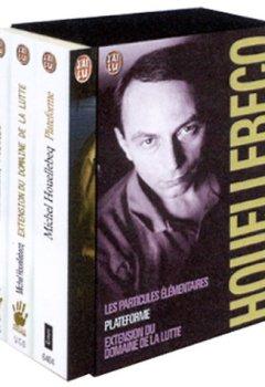 Livres Couvertures de Michel Houellebecq, coffret de 3 volumes : Plateforme - Extension du domaine de la lutte - Les particules élémentaires